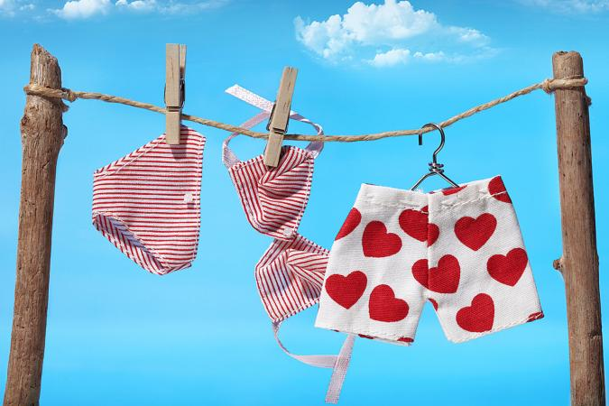 Underwear on the clothes line