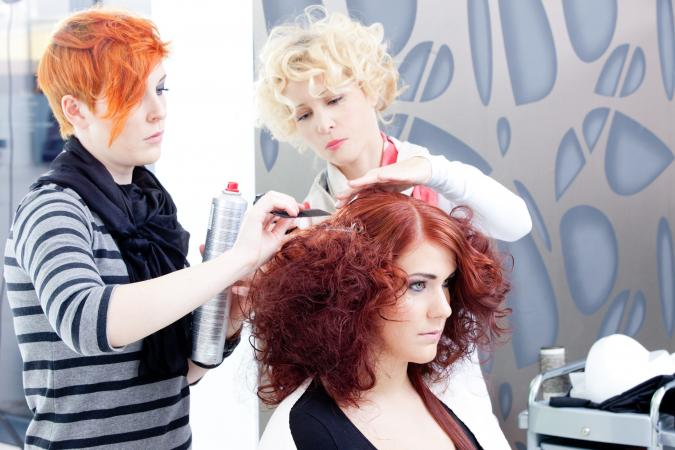 Hairdressers in hair salon