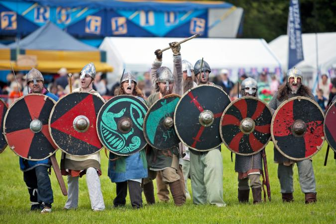 Viking charge reenactment