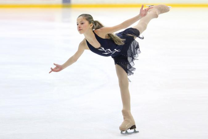 Girl at skate competition