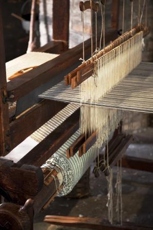 spinning weft