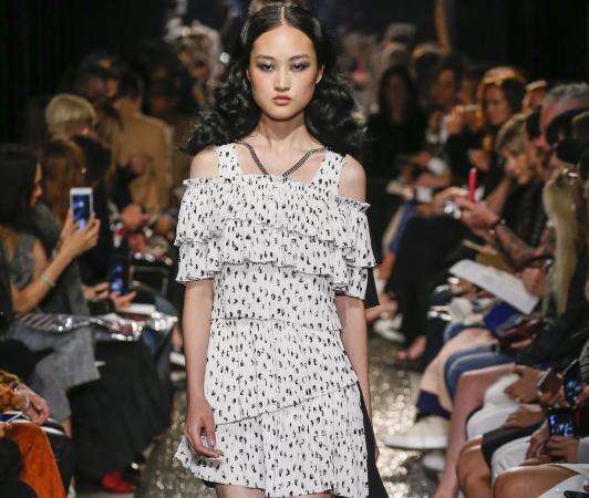 A Model walks runway at the Sonia Rykiel show
