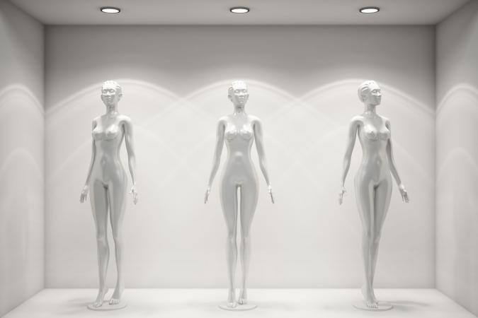 Artistic body mannequins