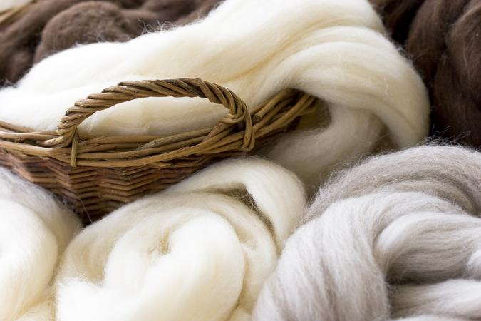 Wool in natural colors