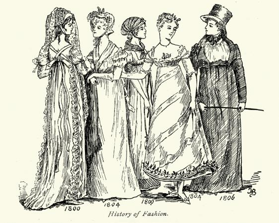 women's 19th century fashion
