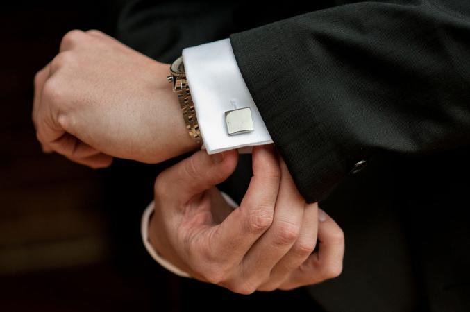 Man's cuff link
