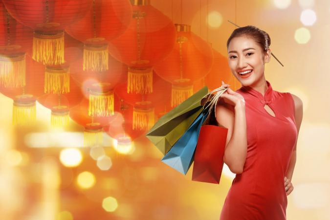 Chinese woman wearing modern dress