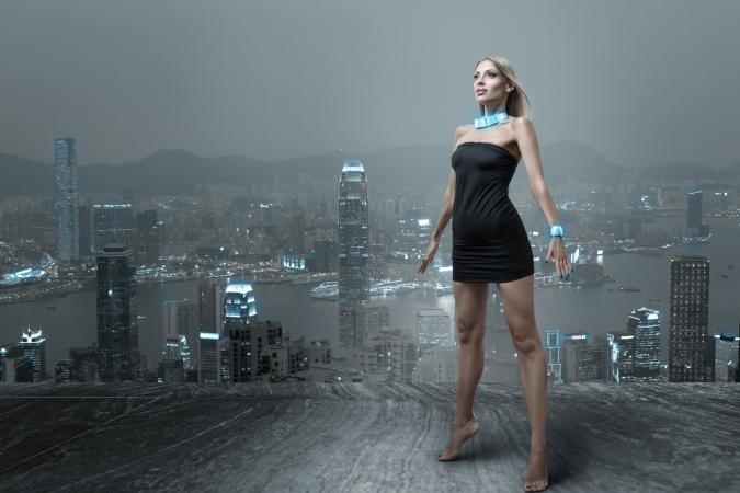 Futuristic fashion design