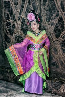 Chinese woman in silk