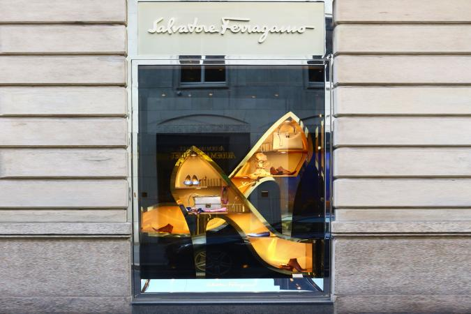 Window of Salvatore Ferragamo