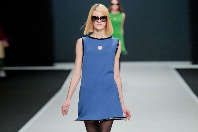 Pierre Cardin fashion show in Moscow