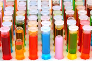 Dyes in test tubes