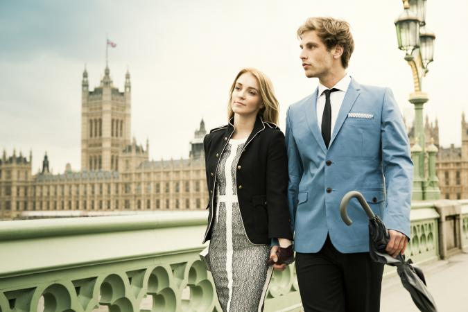 Fashionable London couple