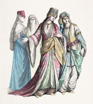 Women in Turkish dress