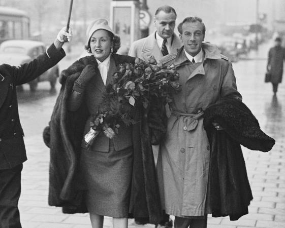 Jacques Fath and wife