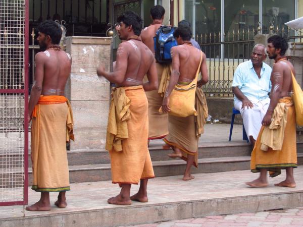 Men wearing sarong clothes