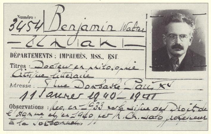 Walter Benjamin. 1940