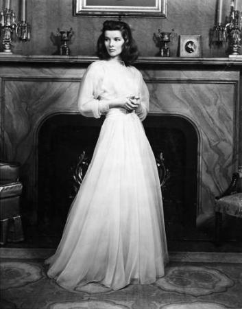 Photograph of Katharine Hepburn in the 1939 stage production The Philadelphia Story