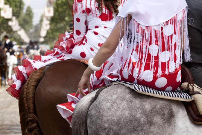 typical flamenco dresses