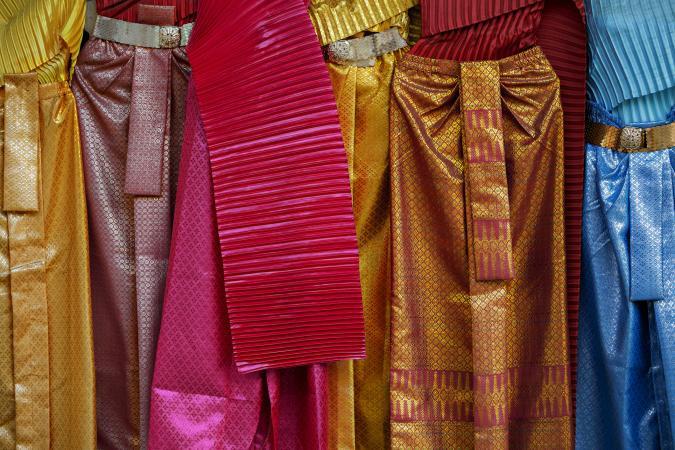Traditional Thai silks