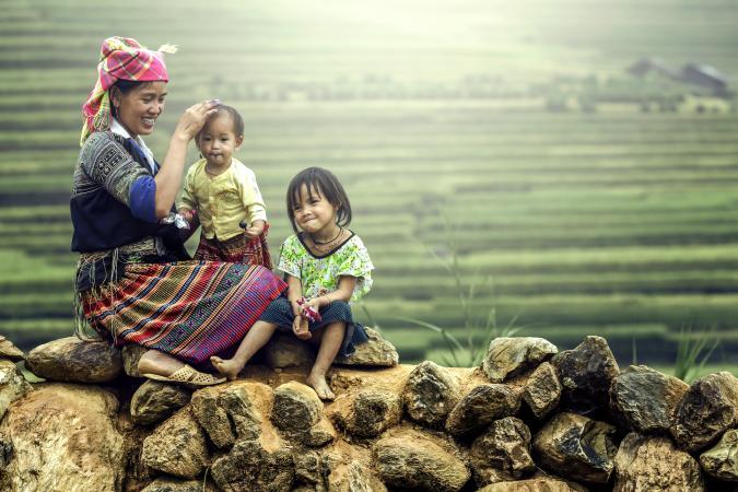 Tribal Vietnamese family