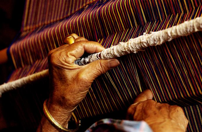 Traditional Toraja weaving