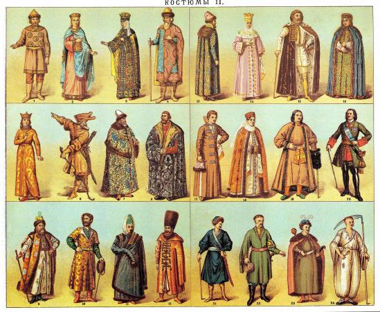 Dress from Brockhaus and Efron Encyclopedic Dictionary