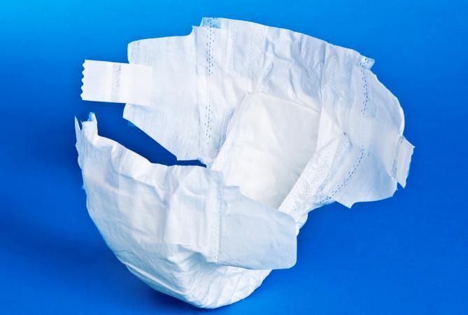 Disposable diaper made of non-woven fabrics