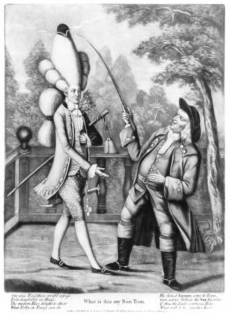 1774 satirical caricature