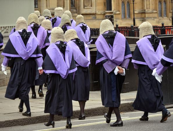 British Judges in wigs
