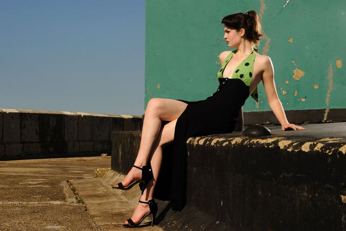 Ossie Clark dress, photo by Alan Langley at Dover Design for Madam Popoff Vintage