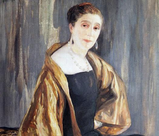 Portrait of Jeanne Lanvin, (1925) by Clémentine-Hélène Dufau