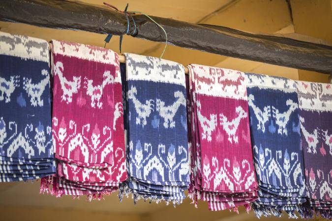 Traditional ikat fabric of Flores island in Indonesia