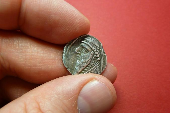 Ancient Coin of Mithridates II King of Parthia