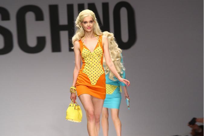 MILAN ITALY - Moschino show models