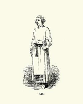Priest wearing an Alb