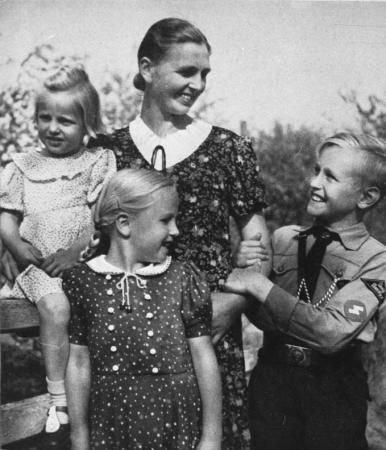 Nazi mother with children