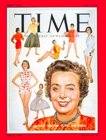 Claire McCardell on the cover of TIME, May 2 1955