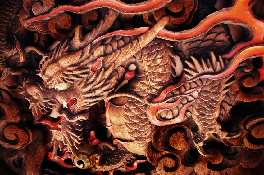 Japanese dragon art slideshow for Japanese dragon painting
