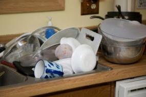 Don't let dirty dishes accumulate.