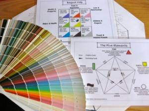 Paint color samples and feng shui charts