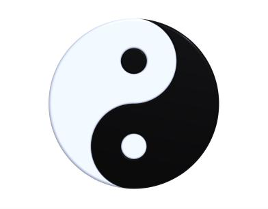 Tai chi symbol called yin yang