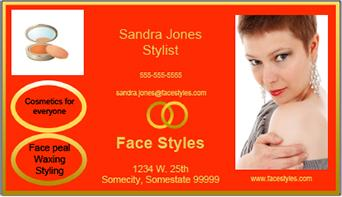 red and gold feng shui business card