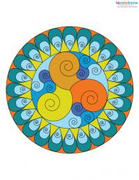 Free Mandala Designs to Print 4 color