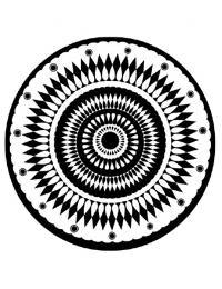 black and white mandala