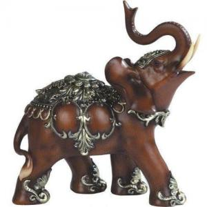 Trumpeting elephant statue