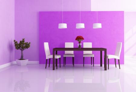 Purple Dining Room With Feng Shui Paint Colors