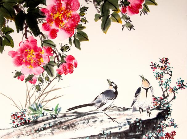 art for the bedroom feng shui. by sally painter feng shui practitioner. chinese ink painting art for the bedroom o