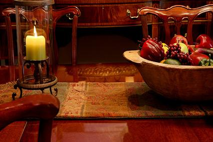 Centerpiece on table for abundance