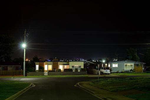 Australian Suburbs at Night